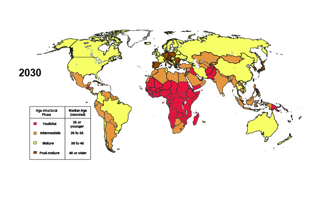 2030: Country-level Age Structures